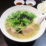 麺工房 武 - 牛塩ネギラーメン(850円)
