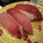 回転寿司 たいせい - 2013/8 みなみまぐろ3貫盛り
