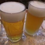 四川家庭料理 珍々 - 生ビール(500円×2)