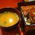 大江戸寿司 - 肝吸いではなく味噌汁でした。美味しかったけど^^