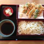麦 kamiuma ASAHIYA - かき揚げせいろ(950円)