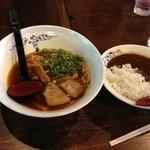 麺処 じゅげむ - 醤油ラーメンと半カレー