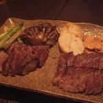鉄板焼 ろじ - 黒毛和牛のリブロースステーキ・A5霜降りザブトンステーキ・野菜他
