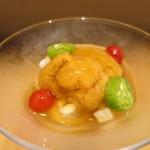 みや - 25年8月 宮城雲丹、湯葉の出汁餡