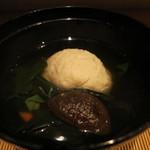 みや - 25年8月 鯛真薯、金時草の椀