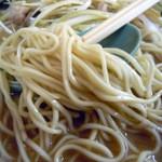 ラーメンショップ - 「ねぎみそラーメン(並)」中太のストレート麺