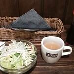 ティンバー - サラダとコンソメスープ♪