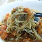 20693065 - (2013/7月)「信州ぶっかけトマトそば(冷製)」の麺