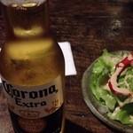ムクバル - 作坊吃出張営業 コロナビールとタコスセットのサラダ