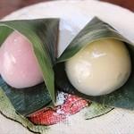 浜田製菓 - 千姫水晶まんじゅう(左:梅、右:ゆず)