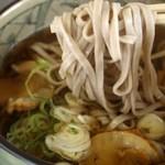 三陸リアス亭 - ホタテそば 麺リフト