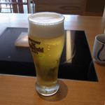木曽路 - キンキンに冷えた生ビール(714円)