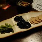 炙り居酒屋 うおやのげんさん - 漬け物三種盛り400円