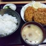 舎人亭 - メンチカツ定食 \800