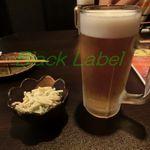 骨付鶏 ひろ - ビール+つきだし