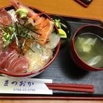 まつおか - 海鮮丼 普通