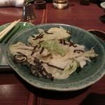 ばり鶏 - 白菜サラダ