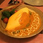 インド料理 想いの木 - シェフのふわふわとろとろオムレツ