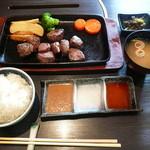 季楽 - サイコロステーキ定食