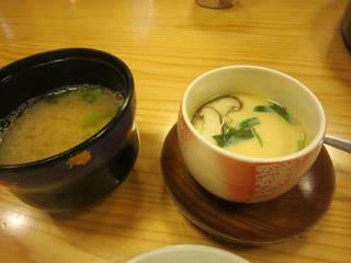 澤鮨 - 味噌汁 茶碗蒸し