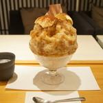 緋毬 - ティラミス氷(850円)全景。