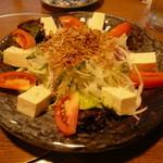 天まで上がれ - 料理写真:豆腐とじゃこのサラダ