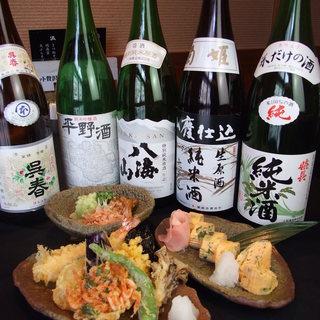 そばには日本酒!