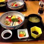 お食事処 さくら - 3013/08/XX 地魚丼 ¥1000