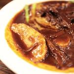 ビストロバールJIN - 野菜たっぷりビーフシチューの底にはポテトが。 '13 8月中旬