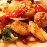 三国志 - 貝柱と野菜のXOソース炒め