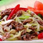 三国志 - ラム肉と白ネギのピリ辛炒め