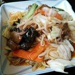 20731206 - 日替わりランチ牛肉の野菜炒め(680円)