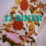 13Diner - アメリカンの定番♪ バナナスプリット♪