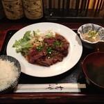 たくあん・牡丹亭 - サービスステーキランチ 美味和風ソース 1000円
