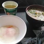 諏訪湖サービスエリア上り線 ブライトンフードコート - 半熟玉子&豚汁