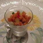 リストランテ 濱崎 - クリームチーズ風味の先付け