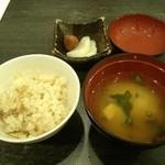 爛漫 - 料理写真:7、鯛めし・味噌汁・お新香