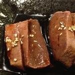 まるちゃん - レバステーキ」500円