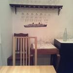 リストランティーノ ルベロ - 2Fの2人掛けテーブル