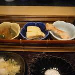 かつ蔵 - 小鉢3品