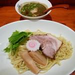 ひのき屋 - 冷やし黒胡麻タンタンつけ麺(H25.8.19)