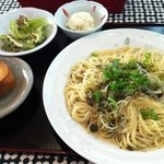 Ushimaketa - 高菜とじゃこのパスタ