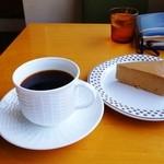カフェ カチョウフウゲツ - グァテマラとモカチーズケーキ