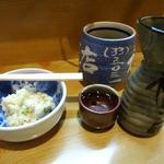 20751283 - お通しのポテサラと日本酒