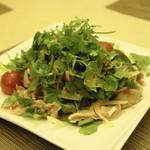 タイ国料理 チャイタレー - 2013.8 ヤムガポムー(830円)豚ガツ刺しとタイセロリのスパイシーミントサラダ