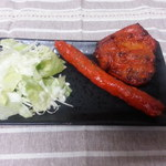 ぞうさんカレー - 料理写真:グリルセットのタンドリーチキンとシシカバブ