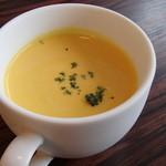 20754638 - '13.6.とうもろこしのフランとかぼちゃの冷製スープ¥250-