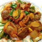 ネパール居酒屋 味家 - パングラ 砂肝の炒め物