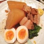 麹村 - ランチ。豚角煮定食。 からしっていいですね。