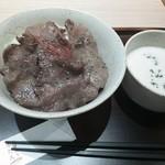 杜もと - 薄切塩牛タン丼